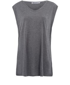 T by Alexander Wang Grey Classic Muscle T-Shirt