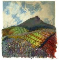 """Woodborough Hill"" by Margaret M. Roberts Textiles / mixed media 