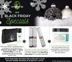 BLACK FRIDAY SPECIALS ONLINE! (SHOP NOW) Why leave the comfort of your home to go in the cold & big crowds? When you can just shop our all natural / organic products right here online. Straight from your cozy home as you continue nibbling on your leftover holiday goodies. Black Friday has already started and ends on Tuesday, December 1st at 11 am EST. That's right our Black Friday last for 4 full days but don't put it off. Because you don't want to miss out on the discounts before their…