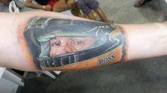 Tatuagem do Pilotode F1 Ayrton Senna