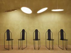 """Nix pendant shining down on Pudica chairs by Pedro Paulo Venzon - Matter Made """"MM XVII"""" collection in Milan 