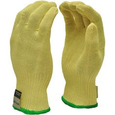 G & F Cut-Resistant 100 Percent DuPont Kevlar Gloves, Yellow, Medium, 1 Pair