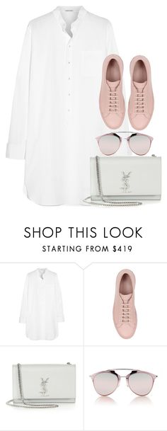 """Untitled #2831"" by elenaday ❤ liked on Polyvore featuring Tomas Maier, Common Projects, Yves Saint Laurent and Christian Dior"
