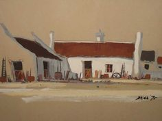 Mel Brigg (1950-) - Arniston Cottages, 1975
