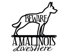 Belgian Malinois Lives Here Metal Sign by RefinedInspirations