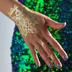 Gold and white hand or foot jewelry from the