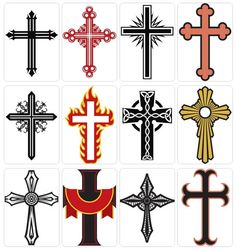 Sketches and drawings of Crosses