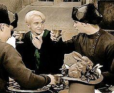 "durmstranged: ""elderwandskeeper: ""headcanon:  Viktor Krum gave Draco Malfoy his first drink lol "" Headcanon accepted. """