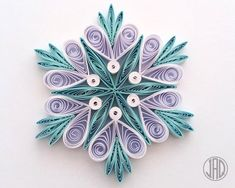 Your place to buy and sell all things handmade Quilling Christmas, Christmas Ornament Crafts, Holiday Crafts, Christmas Wreaths, Free Quilling Patterns, Quilling Designs, Handmade Christmas Decorations, Handmade Ornaments, Quilling Paper Craft