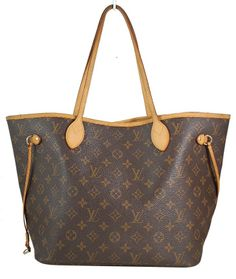 Louis Vuitton Monogram Canvas Neverfull MM Shopping Tote Bag