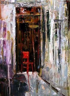 Red Chair by Debra Hurd #painting #fineart #art