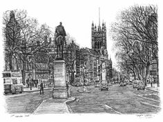 Whitehall Road, London - drawings and paintings by Stephen Wiltshire MBE