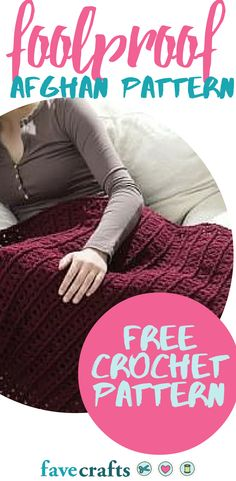 Foolproof Afghan Pattern | One of our favorite free crochet patterns for afghans! It is so easy everyone can make it.