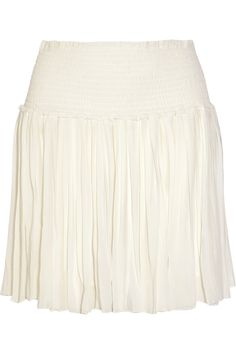 ETOILE ISABEL MARANT Arielle Pleated Georgette Mini Skirt. #etoileisabelmarant #cloth #skirt