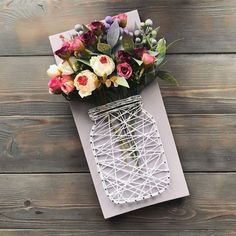 Top 27 Cute and Money Saving DIY Crafts to Welcome The Easter Diy Arts And Crafts, Crafts To Sell, Crafts For Kids, Paper Crafts, Diy Projects To Sell, Nail String Art, Wood Art, Diy Gifts, Crafty