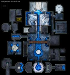 Clean water Temple City river urban undercity battlemap for DnD / by SavingThrower on DeviantArt d&d Fantasy Map, Fantasy Places, Medieval Fantasy, Dcc Rpg, Rpg Pathfinder, Ancient Greek Architecture, Gothic Architecture, Rpg Map, Underwater City