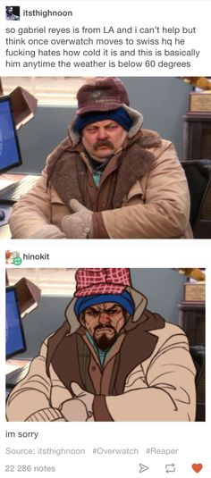 Overwatch Gabriel Reyes Tumblr post
