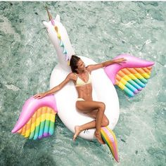 Helen Owen on the FUNBOY Rainbow Unicorn...our summer's complete