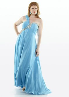2015 One Shoulder Floor Length Blue Lime Red Zipper Ruched Chiffon Sleeveless Homecoming / Plus Size Dresses D452