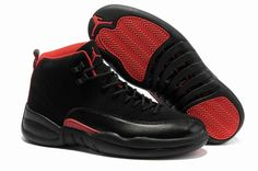 the latest bdb33 d7b64 Cheap Best Prices Nike Air Jordan 12 Phat Retro Black And Red Shoes  Clearance Store