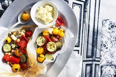 Go Greek for dinner with tender vegetables topped with salty feta and aromatic oregano.