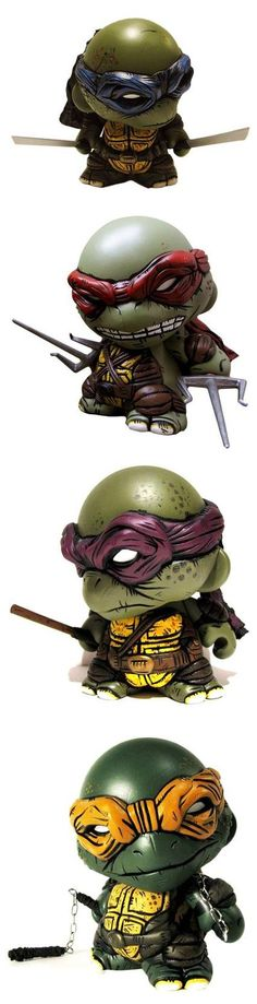 TMNT - custom Munnys - by Sean Viloria - Leonardo Raphael Donetello Michaelangelo