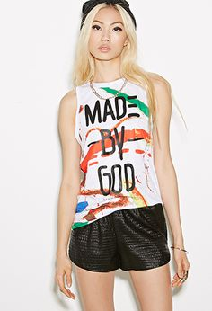 Bass Paint Splatter Tank Top   FOREVER21   #f21collaborates