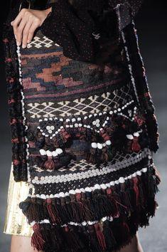 Dries Van Noten / Spring 2014 / High Fashion / Ethnic  Oriental / Carpet  Kilim  Tiles  Prints  Embroidery Inspiration /