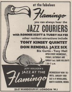 Get down to the Flamingo club… Oxford Street London, Old London, Soho Club, London Nightclubs, Festival Jazz, Club Poster, Swinging London, London Clubs, Test Card