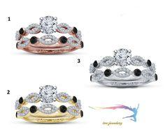 Diamond Bridal Engagement Ring Set 10k White Gold Matching Wedding Band 3.00 CT #tvsjewelery #WeddingEngagementAnniversary