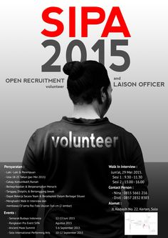 Open Recruitment : Volunteer poster design