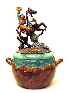 Cowgirl on Horse Cookie Jar