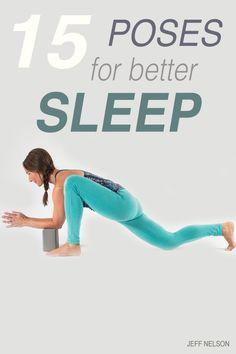 Yoga poses to help you sleep better!