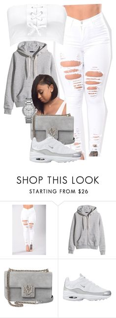 """""""call me Ranch cus I be dressin"""" by itsbabya1 ❤ liked on Polyvore featuring H&M, Alexander McQueen, NIKE and Michael Kors"""