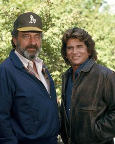 Highway to Heaven Michael Landon Victor French pose together 24x36 Poster | eBay