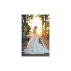 Exclusive, luxury wedding dress 2016.Lace, princess, long sleeve,... ❤ liked on Polyvore featuring dresses