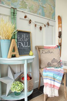 Bright and airy fall home decor