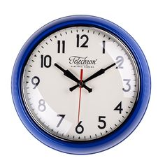 This lovely clock will hang beautifully on your wall.This Cambridge Wall Clock comes in chrome finish and is made of metal and glass. The Cambridge wall clock features bold, easy-to-read numerals swept, second-by-second by a red hand.