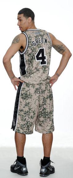 2013 San Antonio Spurs Adidas Military Inspired Camo Uniform