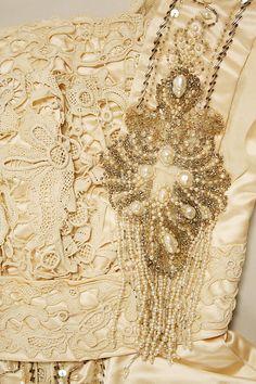 Wedding dress (image 3) | American | 1907 | silk, cotton, plastic, glass, wax | Metropolitan Museum of Art | Accession Number: 1978.386.30a–c