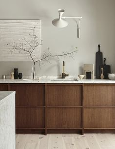 Inspired in Japan minimalist style the new kitchen from Nordiska Kök styled by Sundling Kickén