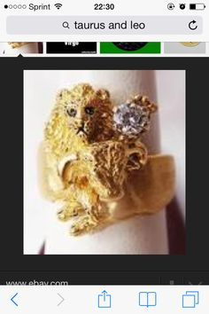 Leo and Taurus ring