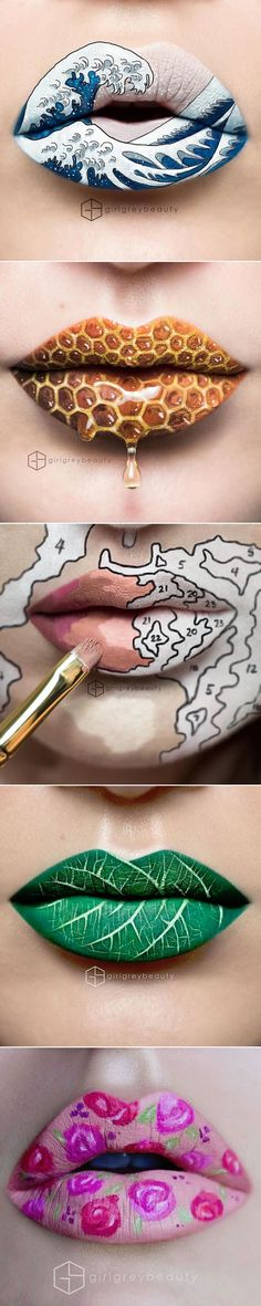 Artist Andrea Reed transforms her lips into stunning works of art.