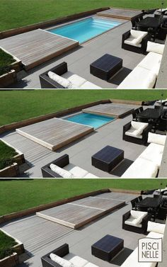 rollingdeck totalement scurisant terrasse piscine rollingdeck totalement scurisant terrasse piscine (no title) modern above ground pool decks ideas wooden deck round pool lawn stone slabs d .modern above ground pool decks ideas wooden deck round Shipping Container Swimming Pool, Verge, Swiming Pool, Small Pools, Small Yards With Pools, Small Pool Ideas, Small Swimming Pools, Dream Pools, Swimming Pool Designs