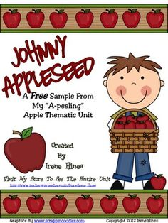This is a 4 page FREE sample from my apple unit: Johnny Appleseed