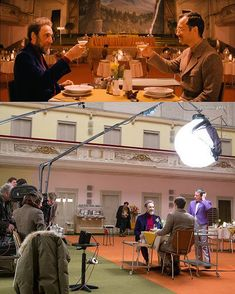 "@filmlights -⚡Film Lighting⚡ på Instagram: ""Grand Budapest Hotel⚡ ◦ Directed by Wes Anderson ◦ In this scene ""Young Writer"" (Jude Law) and ""Mr. Moustafa"" (F. Murray Abraham) are at…"""