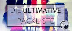 ✓ Nichts mehr vergessen mit meiner Packliste. ✓ Ideal für Backpacker und Weltreisende. ✓Hier findest du die beste Packliste im Netz >>