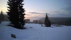 Jizerské hory - horská chata na Smědavě - křižovatka běžkařských a cyklistických cest (Smědava chalet - crossroad of cross-country skiing and cykling routes)