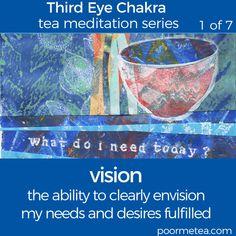 7 Days 7 Chakras Third Eye Chakra Tea Meditation, Vision Walking Meditation, Daily Meditation, Chakra Meditation, Meditation Music, Mindfulness Meditation, Meditation Rooms, 6 Chakra, Third Eye Chakra, Chakra Healing