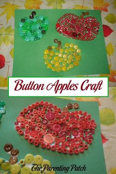 Apples scream of cooler fall weather and delicious treats. Learn how to make apples with buttons and beads for a fun autumn craft.